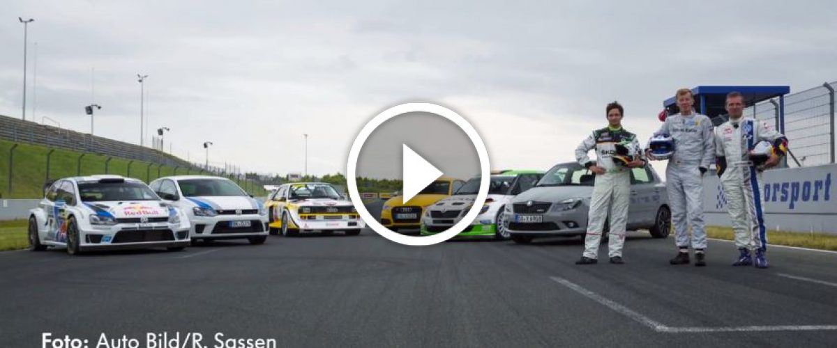 """Παρακολουθήστε το """"Rallye gegen Serie – Der AUTO BILD Test"""" στο YouTube"""