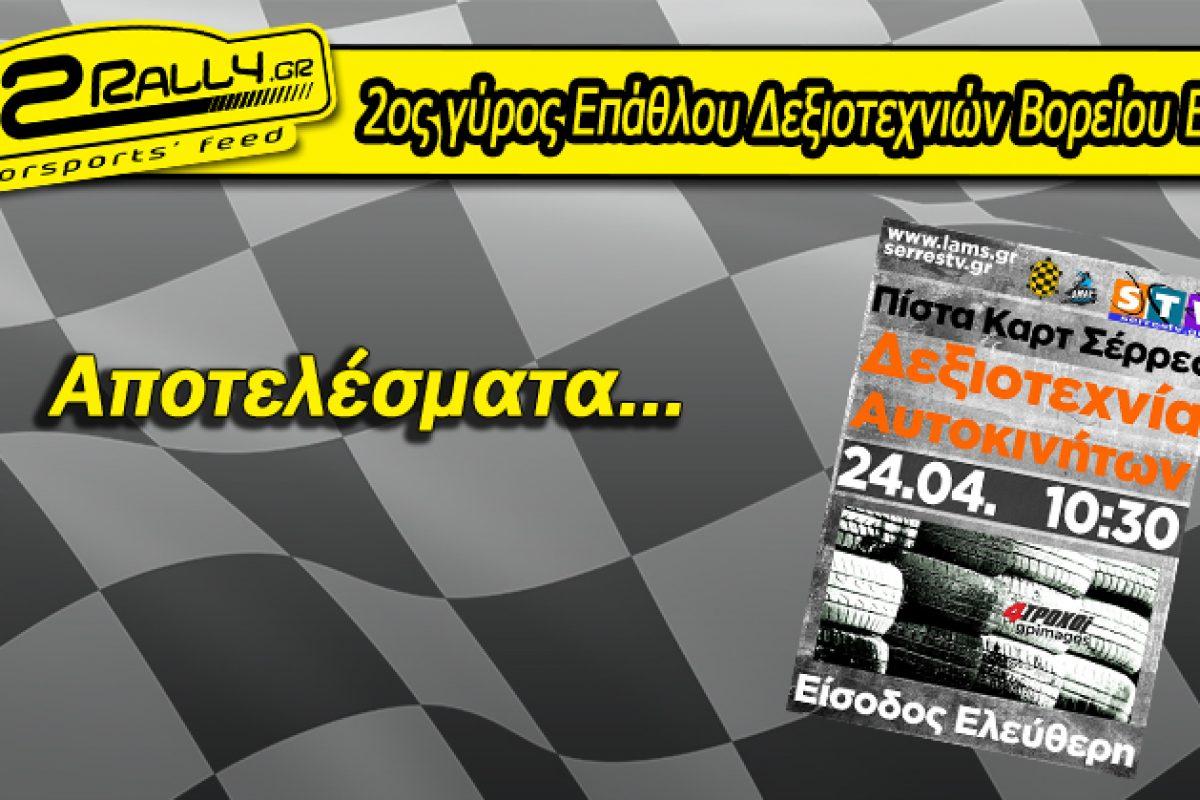 Αποτελέσματα 2ου γύρου Επάθλου Δεξιοτεχνιών Βορείου Ελλάδος