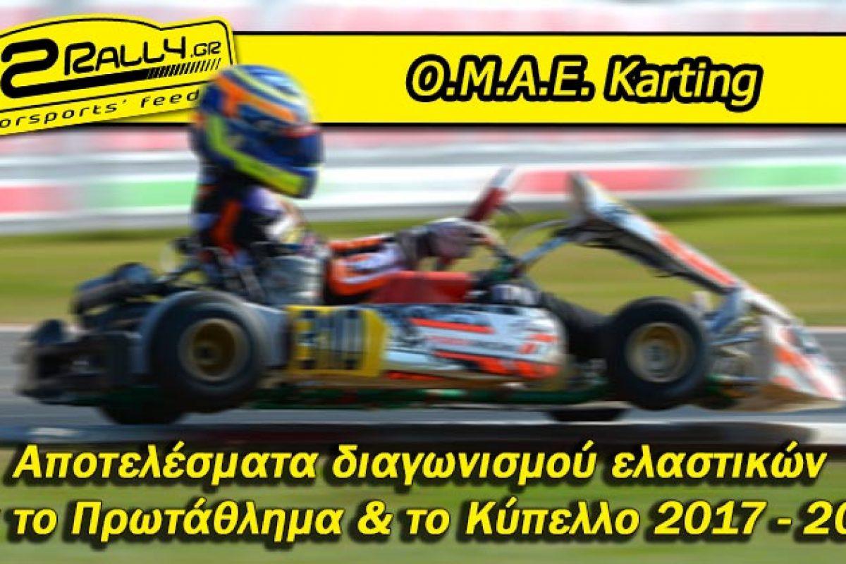 Αποτελέσματα διαγωνισμού ελαστικών για το Πανελλήνιο Πρωτάθλημα & το Κύπελλο Karting Ελλάδας 2017 – 2019