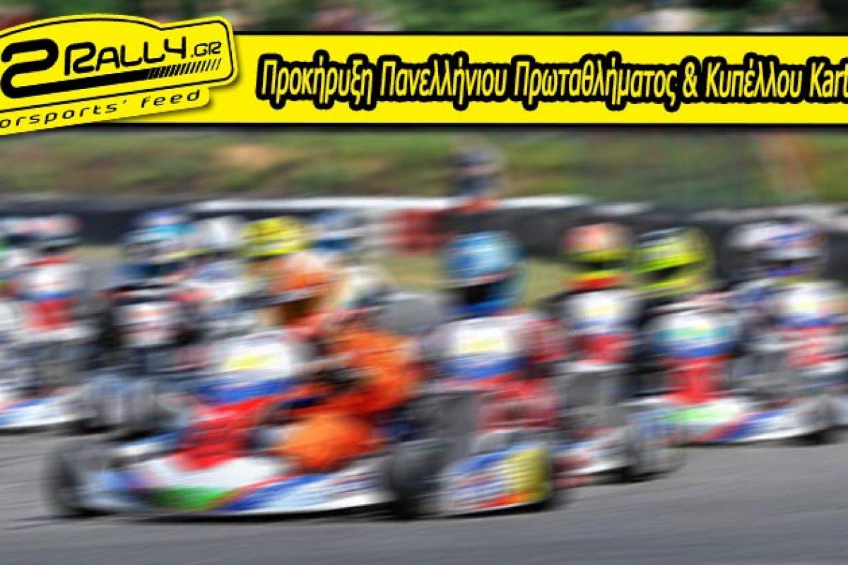 Προκήρυξη Πανελλήνιου Πρωταθλήματος & Κυπέλλου Karting 2017