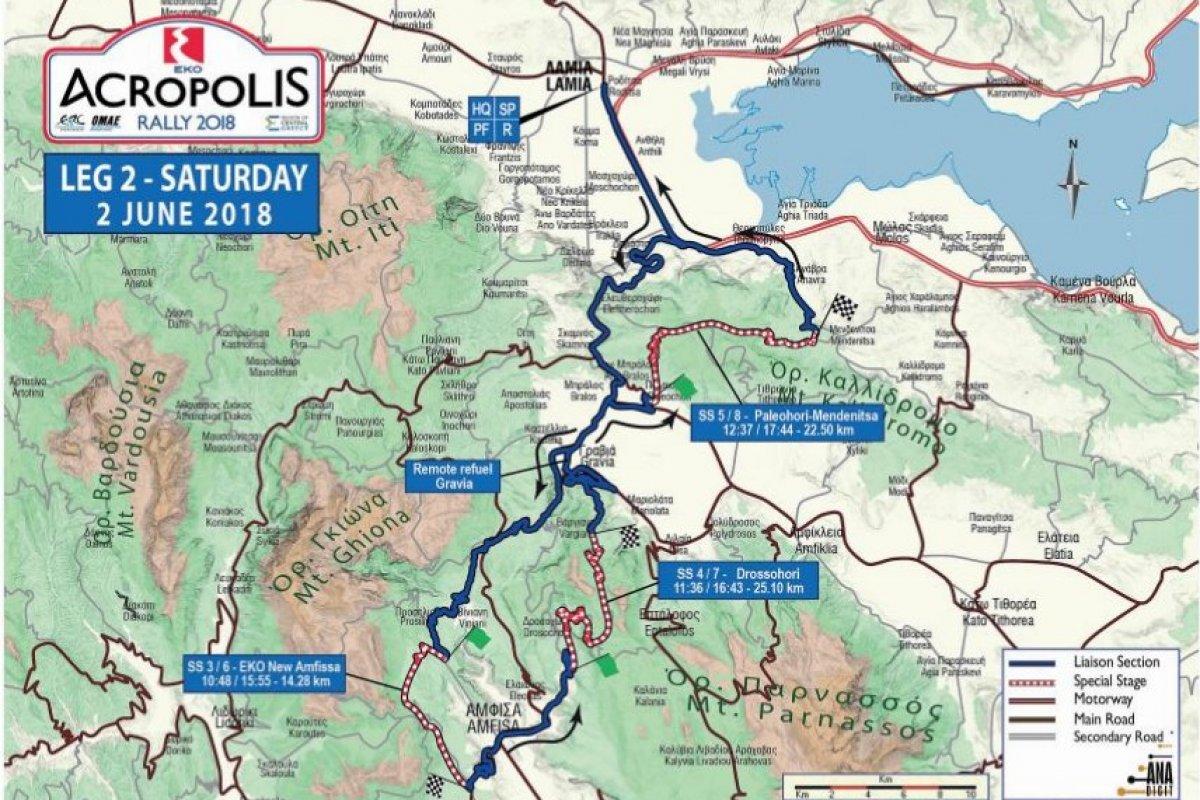 EKO Acropolis Rally 2018: Day-2 Προσβάσεις Θεατών